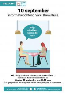 Informatieochtend voor nieuwe vrijwilligers @ Vicki Brownhuis