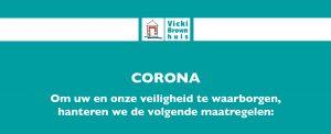 Corona maatregelen Vicki Brownhuis s'-Hertogenbosch