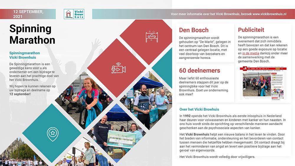 Sponsoring Spinningmarathon Vikci Brownhuis